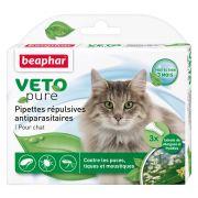 Pipettes pour chat répulsives antiparasitaires