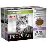 Mousse Proplan Nutrisavour pour chat senior stérilisé, à la dinde