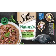 Coffret Sheba Nature's Collection Terre & Mer En Sauce pour chat
