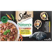 Coffret Sheba Nature's Collection à la Volaille En Sauce pour chat