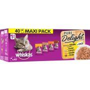 Sachets Whiskas Pure Delight, gelée à la volaille pour chat
