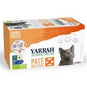 Yarrah Chat Multi-Pack Saumon Dinde Bœuf Bio